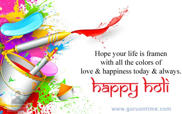 happy holi greeting card