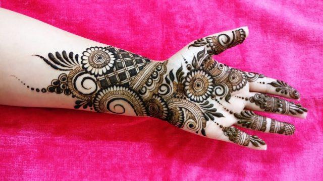 indo arabic mehndi designs for hands