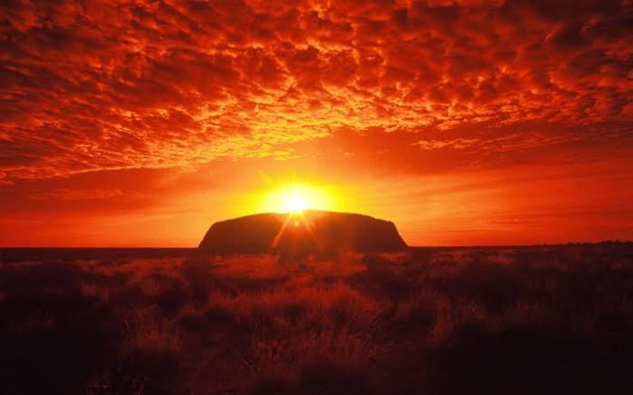 The rock Ayers Rock in Australia