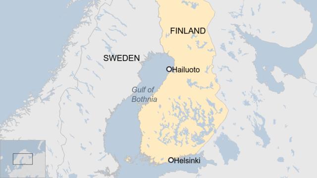 Location of Finland Beaches - ICE Balls