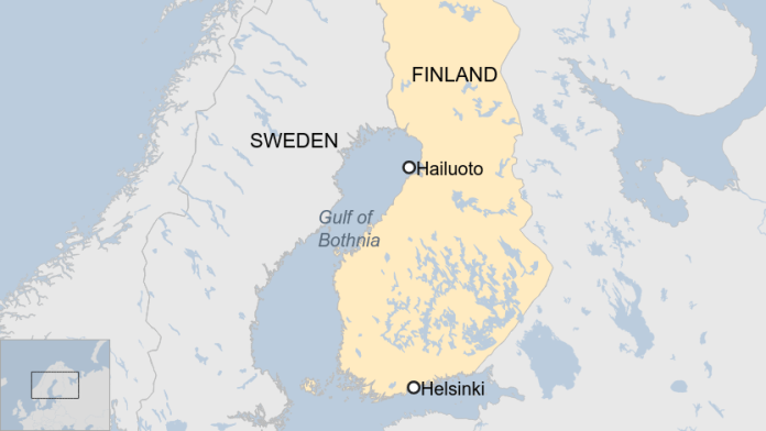 Location of Finland Beaches - ICE Balls
