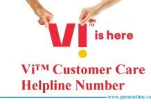 Vi Vodafone Idea Customer Care Helpline Number