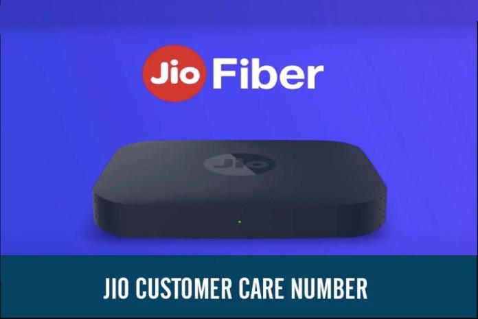 Jio fiber customer care number