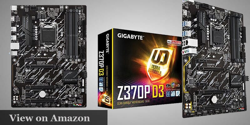 GIGABYTE Z370P D3 Motherboard Coffee lake Pc Build under $1000