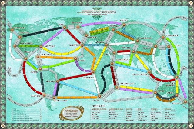 Plateau de Jeu Ticket To THe World Réduit2
