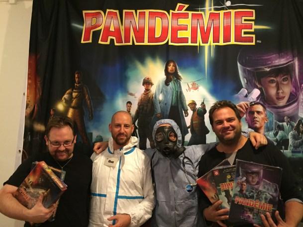 Pyfou, éditeur d'Helvetia Games, et Patrick LDM, les seconds vainqueurs