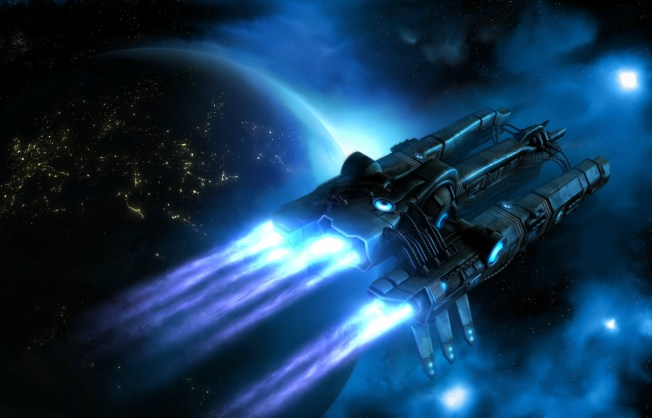 A Spaceship in twilight rev5, Deviantart, by eRe4s3r