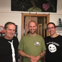 Alain Ollier et Yoann Laurent, de Blackrock, et Gus