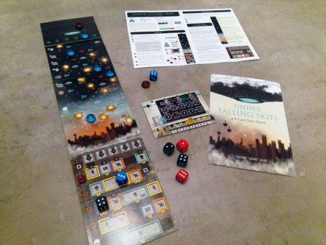 Confinement : Under Falling Skies, un jeu de société gratuit à imprimer chez soi pour jouer en solo, des éditeurs de Codenames