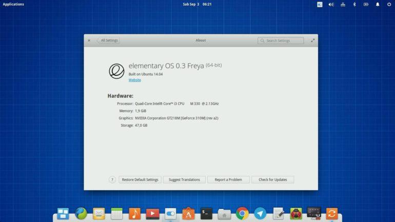 desktop linux elementary os 3.0 freya