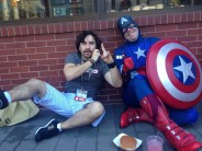 Even Captain America needs to eat. He is apparently fond of pulled pork.