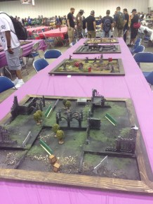 The tables at the Wyrd events area.