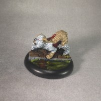 Even though my speed painting job on this model was good enough to get me to the finals at Gen Con, I wanted to give this model a nicer look, so I repainted and rebased it.