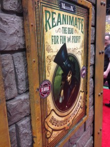The Wyrd booth had some cool posters on it.