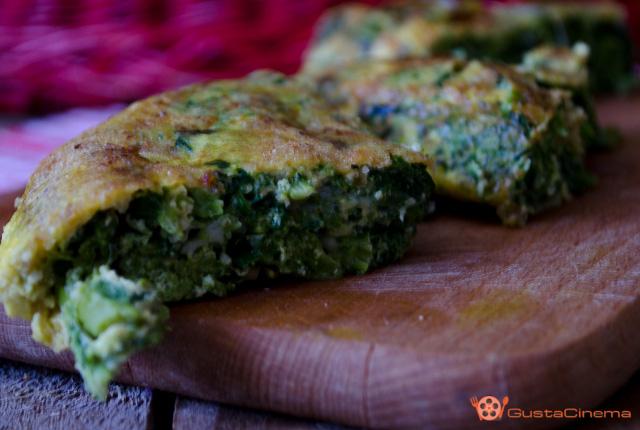 Frittata di broccoli e scamorza