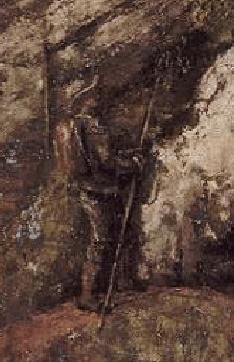 Détail du voyageur de la Caverne des Géants de Courbet