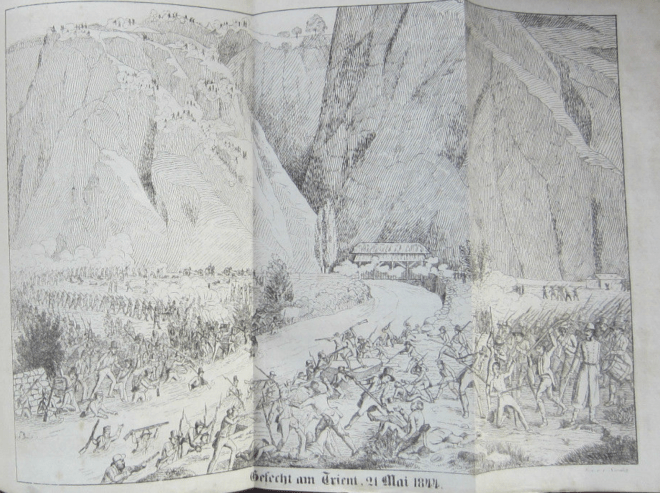 21 mai 1844. Le défilé du Trient, à Vernayaz en Valais, est le théâtre de combats féroces.