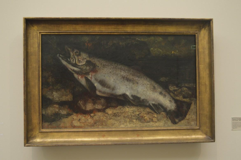 La Truite de Gustave Courbet ( Kunsthaus / Zurich)