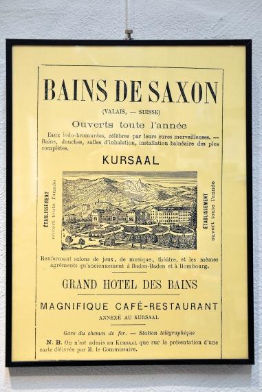 Affiche Bains de Saxon Collection / www.musees-vs.ch