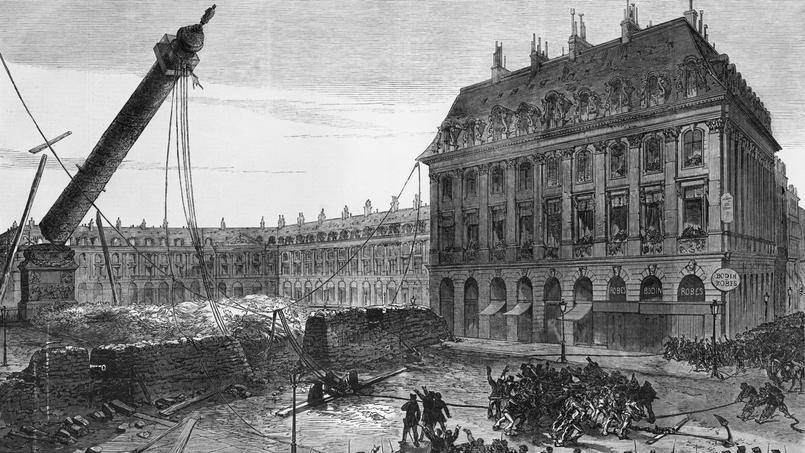 16 mai 1871 : la colonne de Vendôme et la statue de Napoléon est renversée