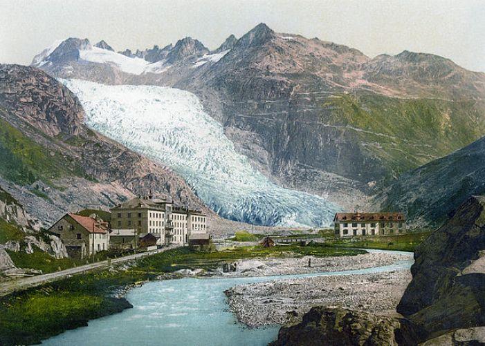 Glacier du Rhône vers 1900