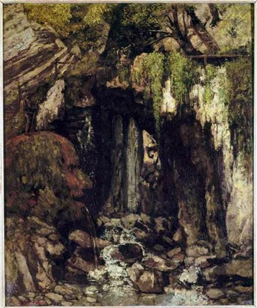 La Caverne des Géants de Saillon (Valais) 1873 Gustave Courbet / Musée de Picardie d'Amiens