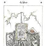 """""""Ex Libris"""" (detalle), de """"Dos cartas"""". Textos de Milan Kundera y Fernando Arrabal, imágenes de Gustavo Charif."""