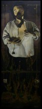 """""""Victorio Lenz herido de guerra"""" / """"Victorio Lenz, war wounded"""" (2003-2009). 200 x 70 cm. Óleo sobre lienzo. / Oil on canvas."""