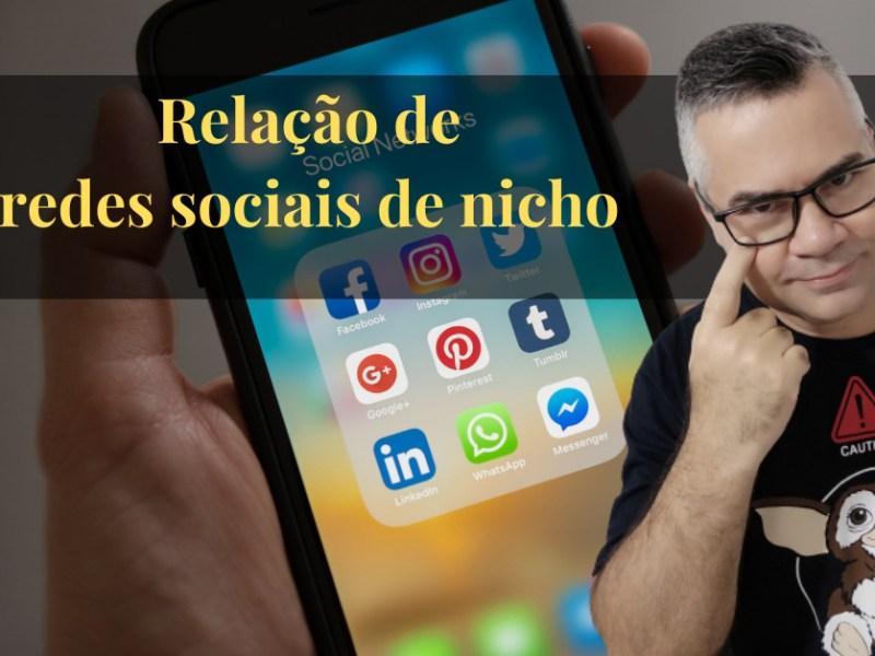 Relação de redes sociais de nicho, por ordem alfabética