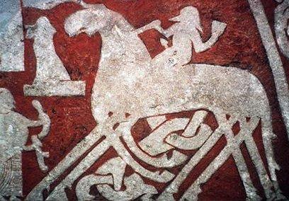 Odin riding Slepnir