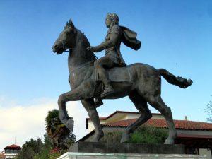 Estatua de Alejandro Magno y Bucéfalo - Caballos Famosos