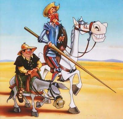 Rocinante y Don Quijote