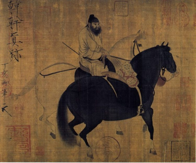 Horse in Painting of Han Gan