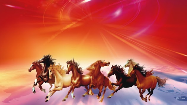 Seven Horses of Suria - Horse in Hindu culture
