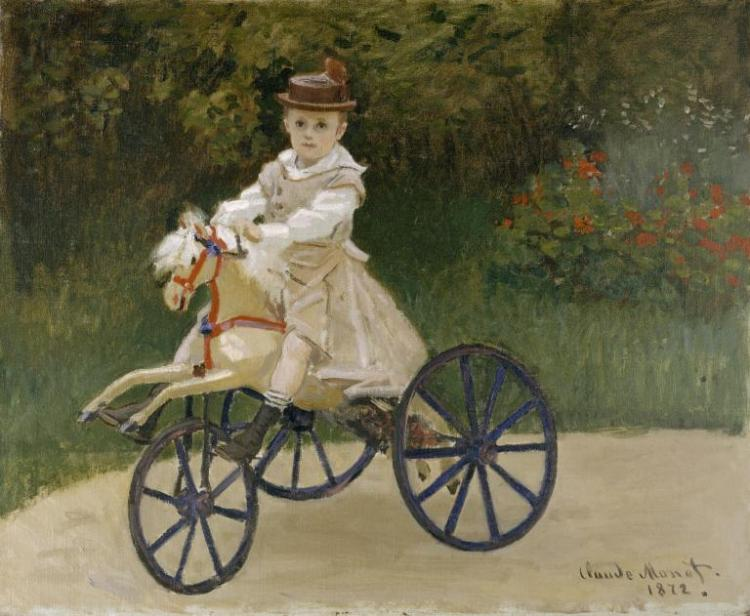 Jean Monet on his Hobby Horse (1972) - Claude Monet
