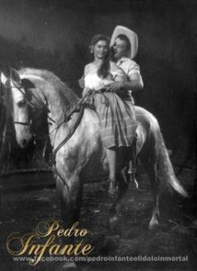 Pedro Infante and the horse in the mexican cinema