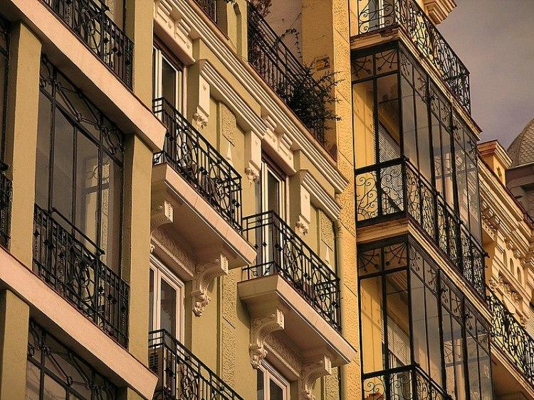 Balcones en el Barrio de Salamanca, Madrid