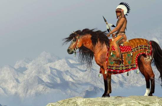 American indian on horseback