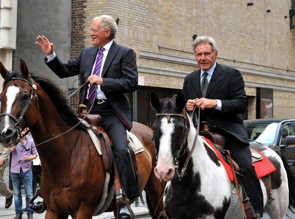 David Letterman and Harrison Ford - Celebrities who love horses