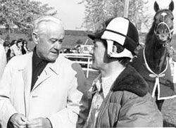 Lucien Laurin and Ron Turcotte