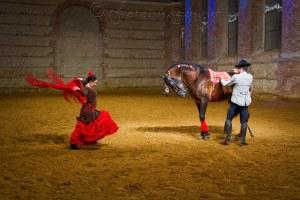 Escena de flamenco ecuestre