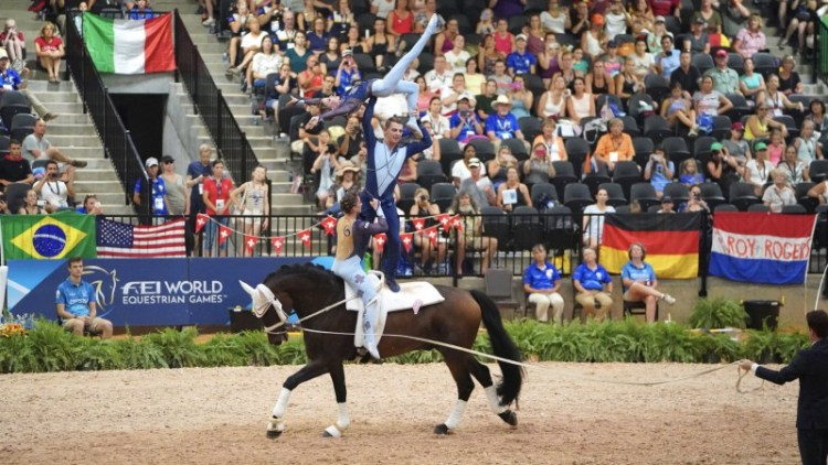 Vaulting in Word Equestrian Games Tryon 2018