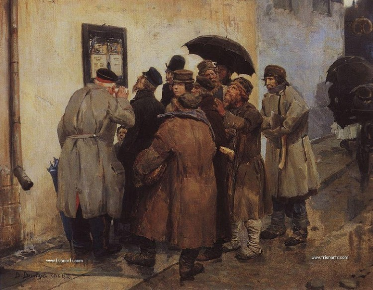 Military telegram - 1878 - Viktor Vasnetsov