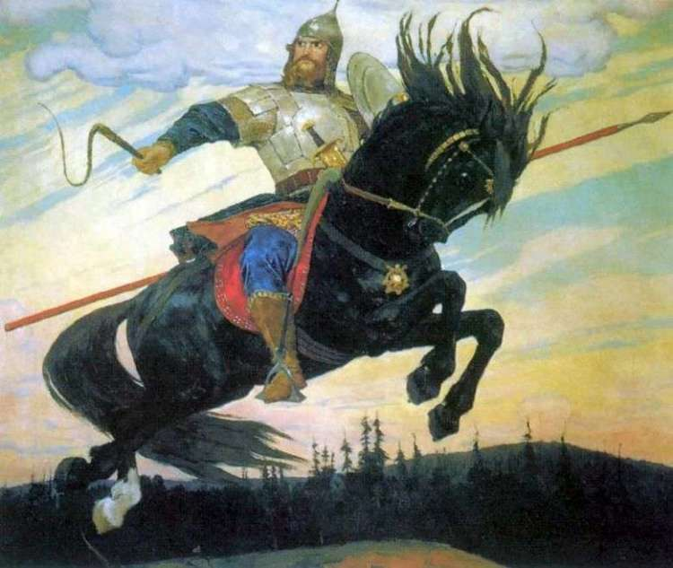 The Bogatyrsky Skok - Viktor Vasnetsov