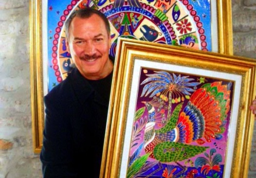Yuri Gorbachev with his art
