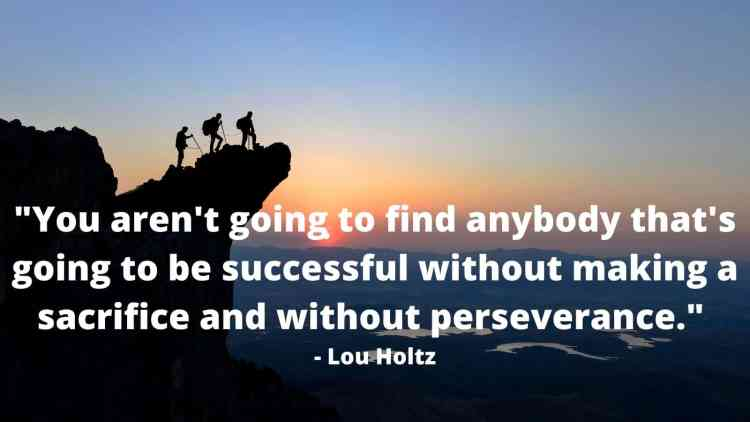 Importance of perseverance