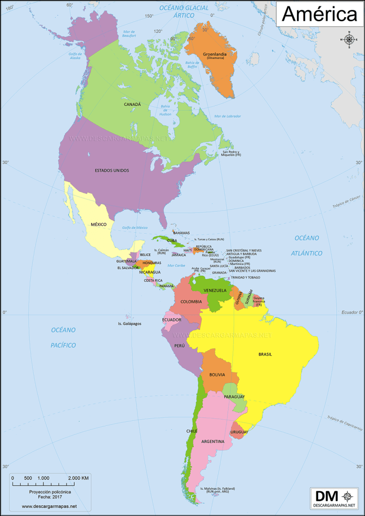 American Continent Map
