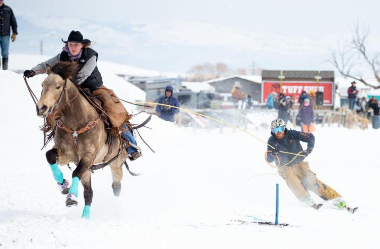 Skijoring a unique sport