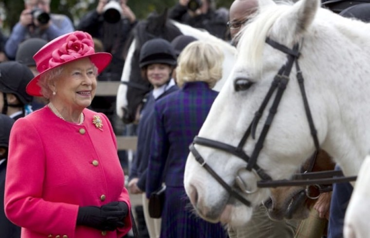 Queen Elizabeth II and her horses