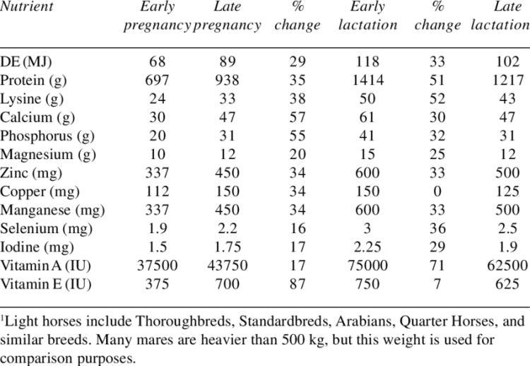 Horse Nutritional Requirements